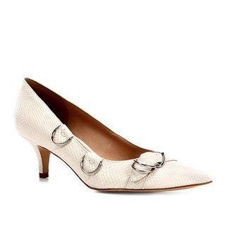 a424e8174c Scarpin Shoestock Salto Baixo Argolas Snake