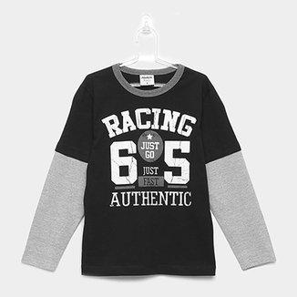 330331c33c Camiseta Infantil Manga Longa Rovitex Masculina