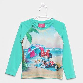 44654111e4 Camiseta Infantil Tip Top Manga Longa Minnie Praia Menina
