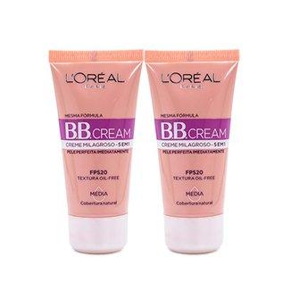 7795d7aa34 Kit BB Cream L Oreál Paris cor Média 30ml 2 Unidades