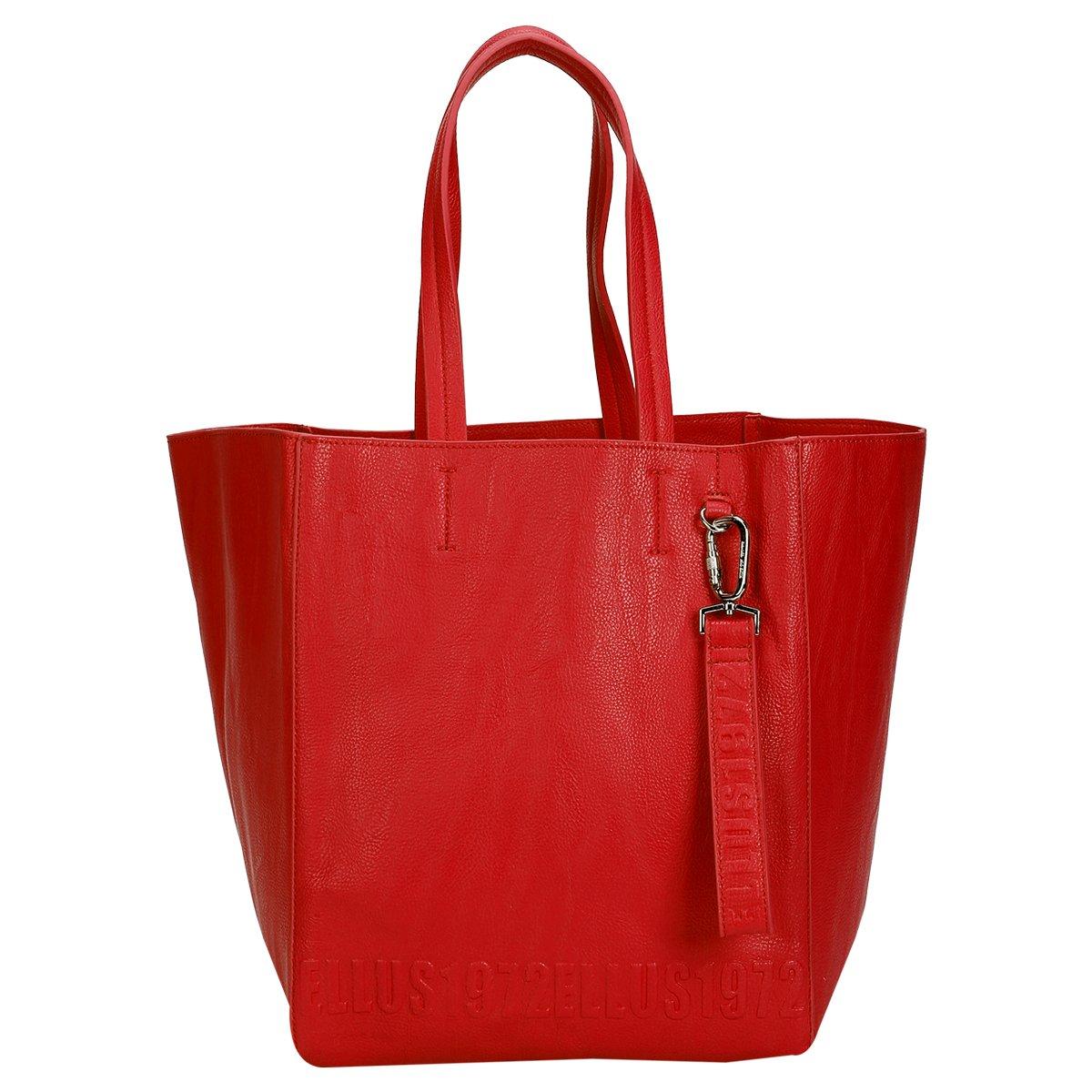 Bolsa Ellus Clutch Alto Relevo : Bolsa ellus saco alto relevo vermelho