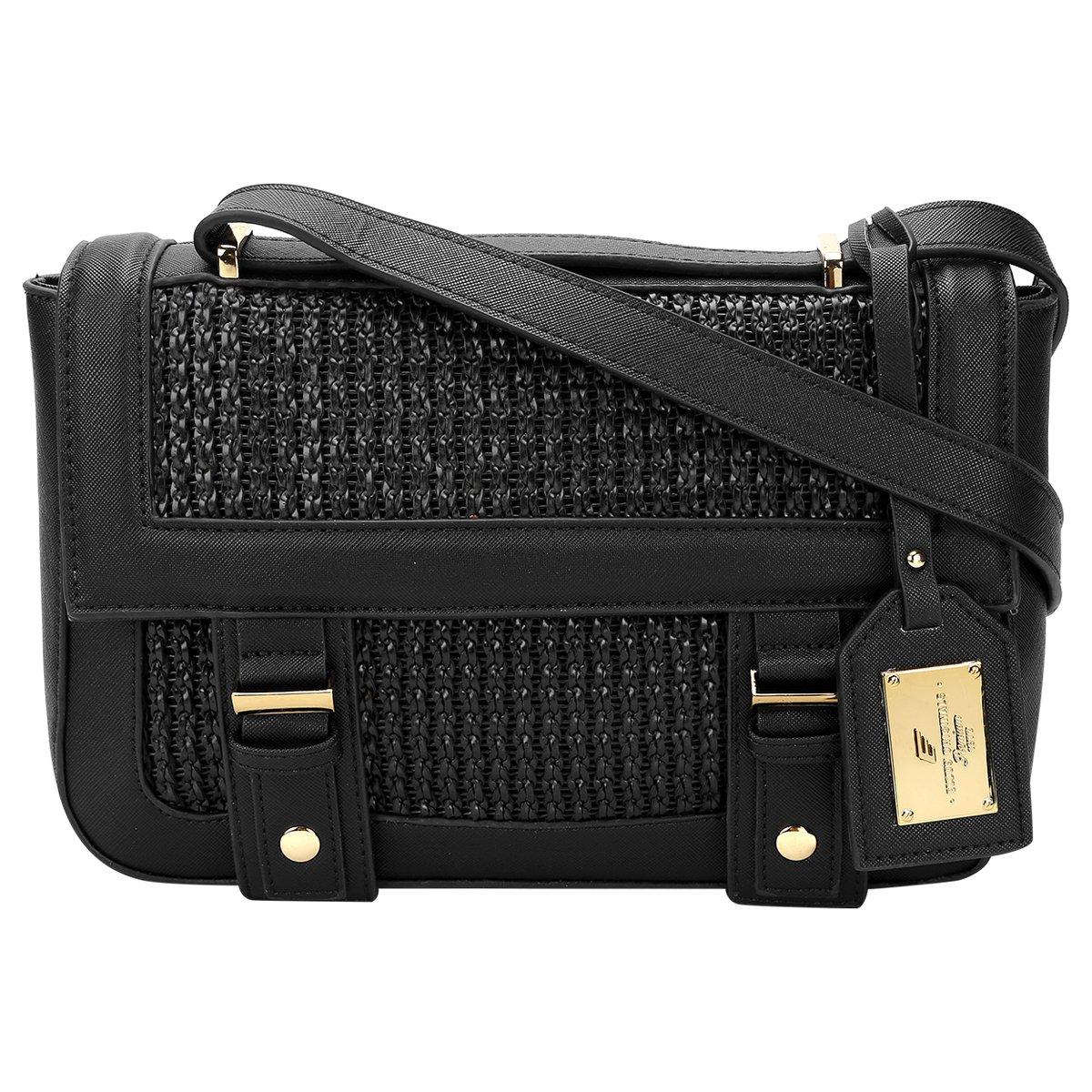 Bolsa Ellus Clutch Alto Relevo : Bolsa ellus satchel tress? preto