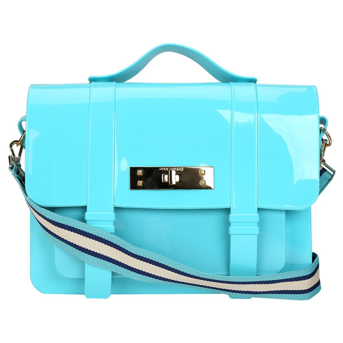 Bolsa petite jolie satchel azul piscina for Bolsa piscina
