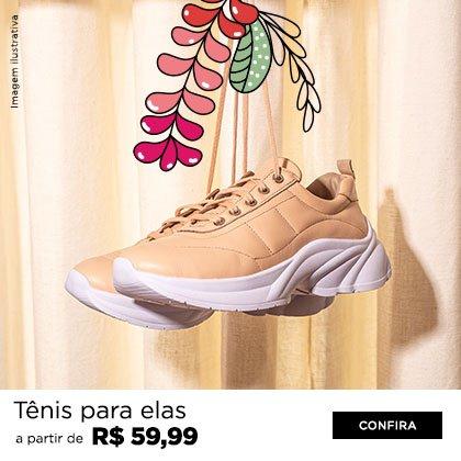 Tênis a partir de R$ 59,99