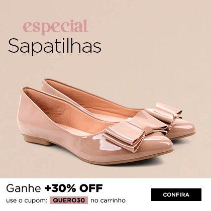 Sapatilhas - Cupom 30% off