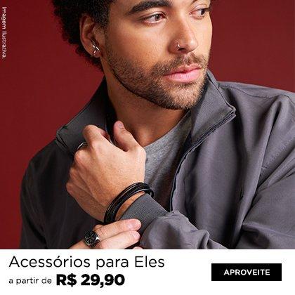 Acessórios Masculinos a partir de R$29,90