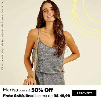 Marisa com até 50% Off + FG Brasil acima de R$ 49,99