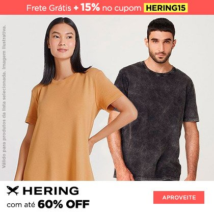 3P -  Hering 15% Off (cupom)