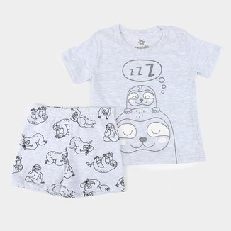 Pijama Infantil Brandili Bichinho Preguiça Feminino