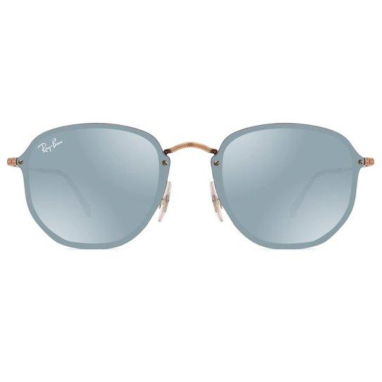 Óculos de Sol Ray Ban Blaze Hexagonal RB3579N 90351U-58 - Bronze ... 49dbc78e71