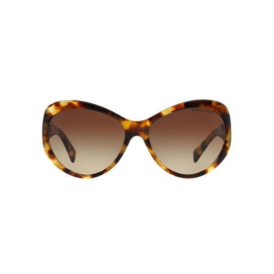 b10d86163ad72 Óculos de Sol Michael Kors Gatinho MK2002QM Brazil Feminino - Marrom Claro
