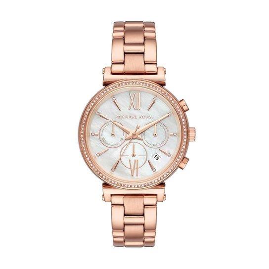 4f2da6235b7 Relógio Michael Kors Feminino Sofie - MK6576 1JN MK6576 1JN - Bronze ...
