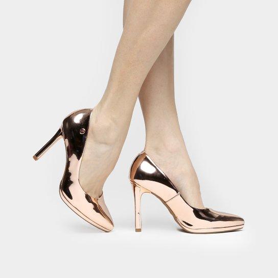 2b02ce7e51 Escarpin Vizzano 2017 Sapato Scarpin Vizzano Metalizado - ViewInvite.CO