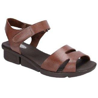 a000a1f6d1 Sandálias Danflex Calçados Feminino Marrom Claro Tamanho 33
