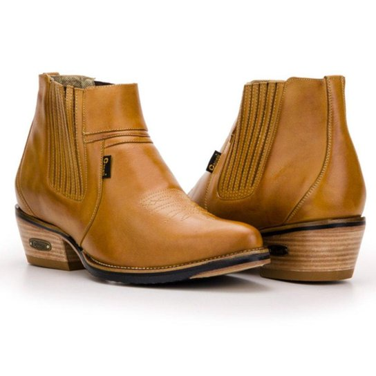 2ccf90ebc9 Bota Texana Country Capelli Boots Cano Curto com Fechamento em Elástico  Masculina - Marrom Claro