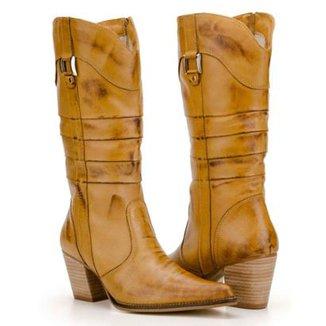 55db109d85 Bota Texana Capelli Boots Country Couros Recortes e Fivela Feminina