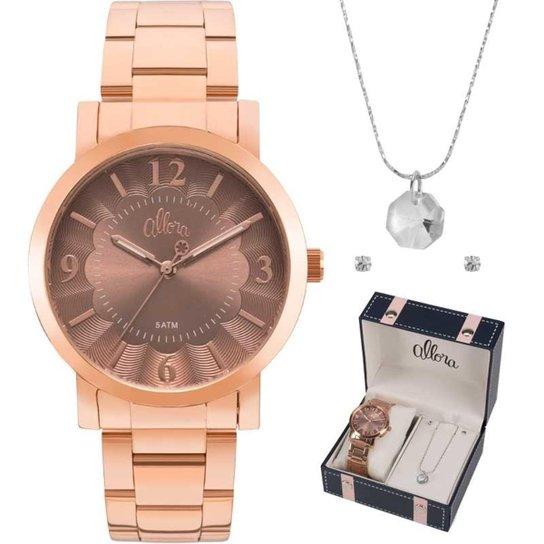 Relógio Feminino Allora Al2035fnb K4j - Compre Agora   Zattini 0263c92e97