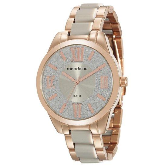 45feb5e3b6c Relógio Feminino Mondaine 76682LPMVRE2 Pulseira Aço - Compre Agora ...
