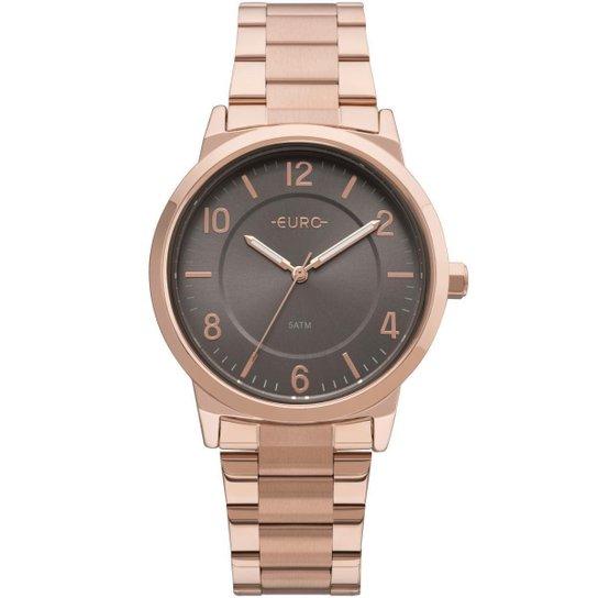 1aedc3597a2 Relógio Feminino Euro EU2036YLY 4J Pulseira Aço - Bronze - Compre ...