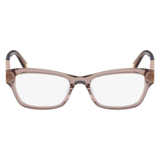 Armação Óculos de Grau Nine West NW5128 264 50 - Marrom Claro ... 1b49c3aa8a