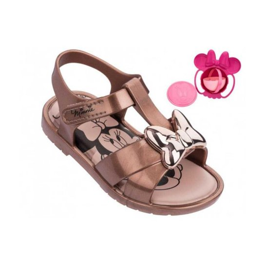 c52a36485 Sandália Bebê Minnie Magic Bowlcobre Grendene Feminina - Bronze ...