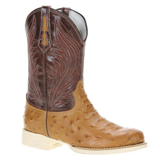 Bota Couro West Country Masculina - Marrom Claro - Compre Agora ... 7914bf1a974