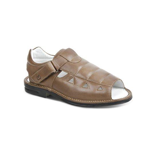 04a3437716 Sandalia Masculina Polo State Confort - Marrom Claro   Zattini