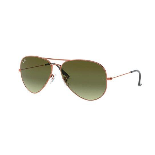 Óculos de Sol Ray-Ban RB3026 Aviator Large Metal II - Bronze ... 1a270d03b8
