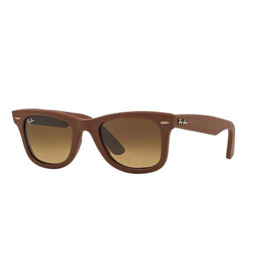 499e05e1c0052 Óculos de Sol Ray-Ban RB2140QM Wayfarer Couro - Compre Agora