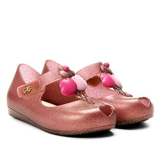 e2fa2d747a9 Sapatilha Infantil World Colors Fosca Velcro Aplique Sorvete Feminina