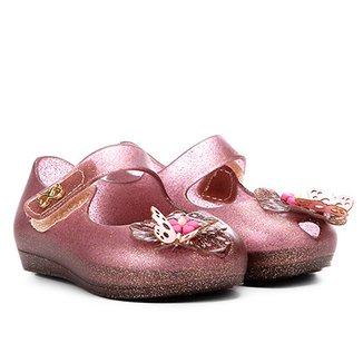Sapatilha Infantil World Colors Glitter Aplique Borboleta Velcro Feminina 4e48a89a84