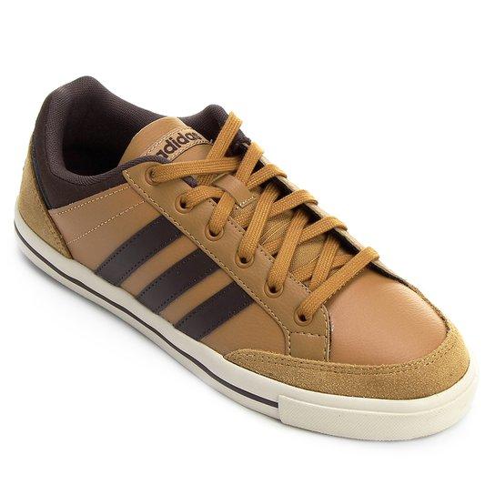 0e27545edf711 ... Tênis Couro Adidas Cacity Masculino - Marrom Claro e Marrom Escuro .