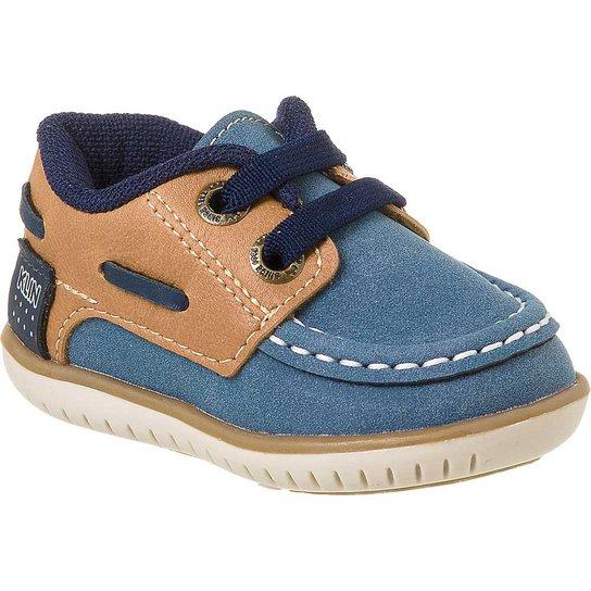 7e5a1f9f159 Sapato Infantil Masculino Klin Cravinho Casual Elástico - Marinho+Caramelo
