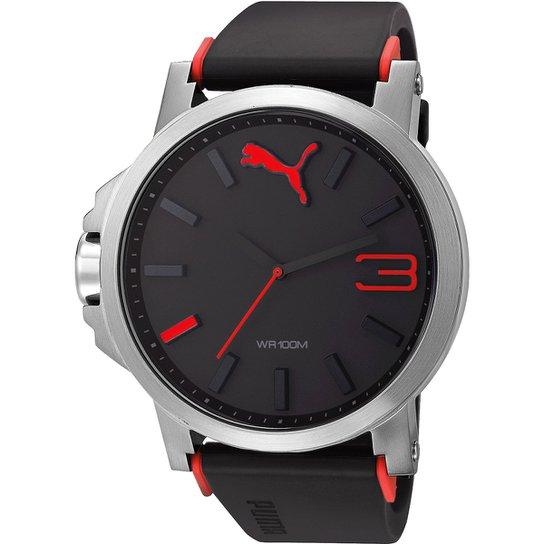 9c13bf207e1 Relógio Puma Ultrasize - Preto+Vermelho