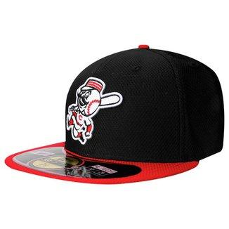 Boné New Era 5950 MLB BP Diamond Cincinnati Reds RD Team Color 3c7a3ece15c