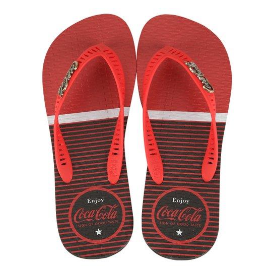 b409b4a226 Chinelo Coca-Cola Frieses Masculino - Preto+Vermelho