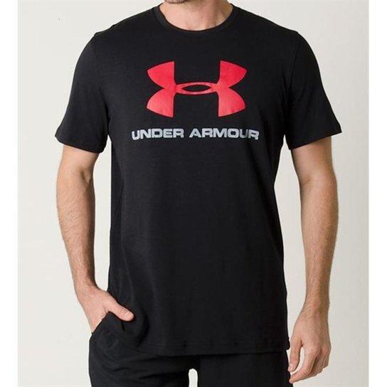 cec017ad030 Camiseta Under Armour Cc Sportstyle Logo Masculina - Preto+Vermelho