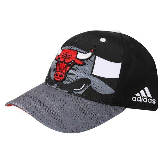 Boné Adidas NBA Chicago Bulls - Preto+Vermelho 4137a700058