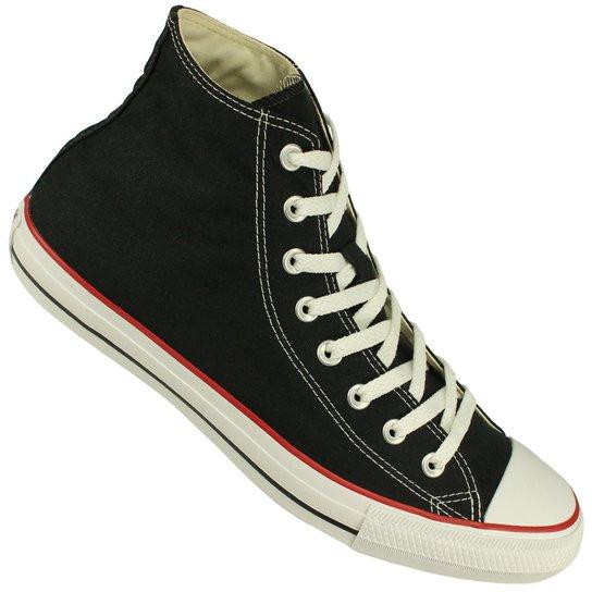 Tênis Converse All Star Chuck Taylor Cano Alto - Preto e Vermelho ... 90065cb8b2af6