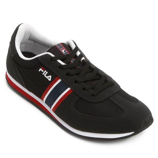 6ef77ef79be Tênis Fila F-Retrô Sport - Preto e Vermelho - Compre Agora