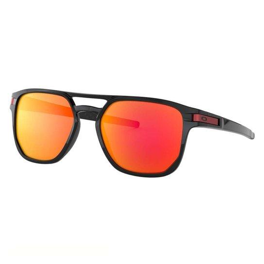 8bae96a7350c5 Óculos Oakley Latch Beta Polarizado - Preto e Vermelho - Compre ...