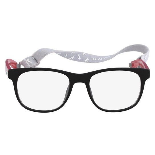 3259413ca3aaa Armação Óculos de Grau Lacoste L3621 615 47 - Preto+Vermelho