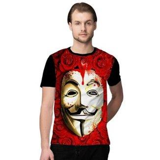 4064f52651 Camiseta Stompy Roses Mask Masculino