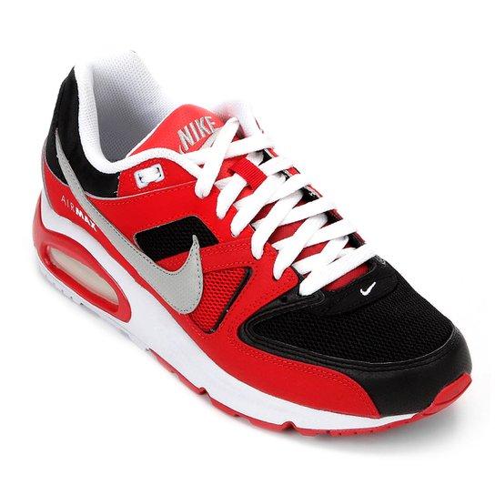 e55763df595 Tênis Nike Air Max Command Masculino - Preto e Vermelho - Compre ...