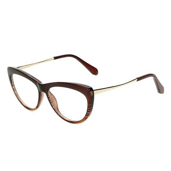dd13a67ee2cc2 Armação Óculos Marielas Clara Transparente RM0341 Feminino - Marrom+Bege