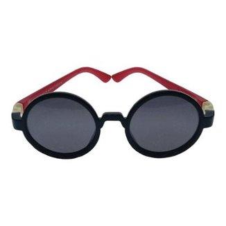36f2aa68df843 Óculos de Sol Khatto Infantil Baby Round