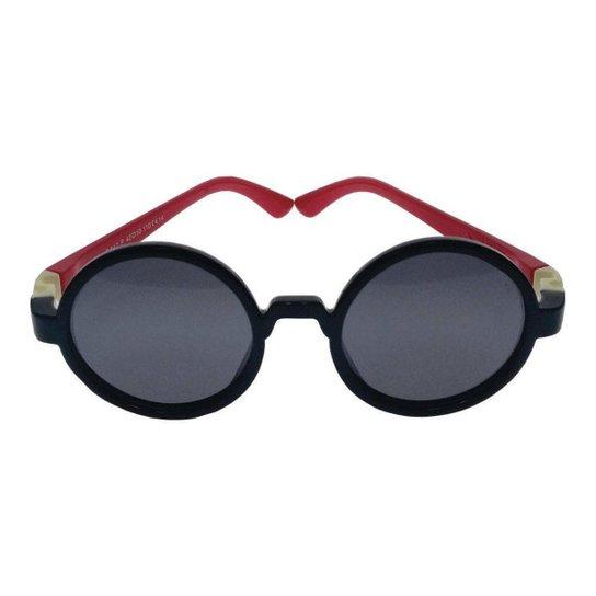 a053c441afb48 Óculos de Sol Khatto Infantil Baby Round - Preto e Vermelho - Compre ...