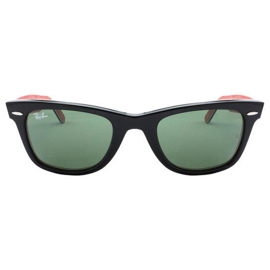 634972b03 Óculos de Sol Ray-Ban Wayfarer RB2140 - 1016/50 - Preto+Vermelho