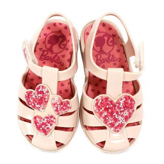 967dd6b77 Sandália Infantil Barbie Love Feminina - Nude - Compre Agora