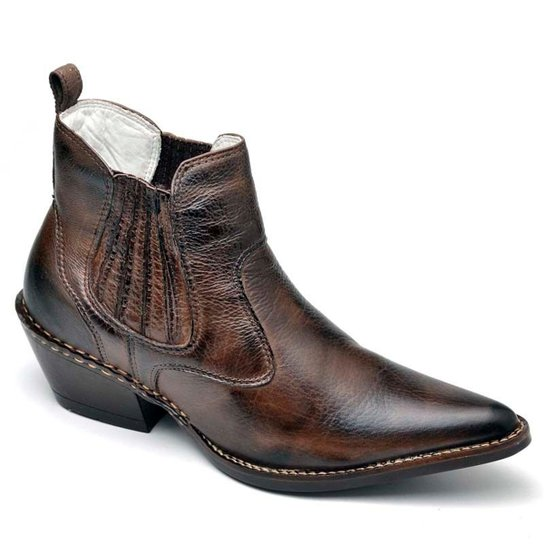 b190fb90f Bota Top Franca Shoes Country - Café   Zattini